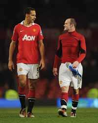 EPL,Wayne Rooney ,Rio Ferdinand,Manchester United vs Wigan Athletic