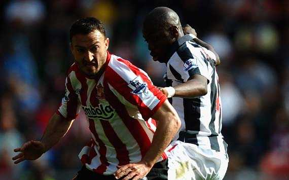 EPL, Sunderland v West Bromwich Albion,  Steed Malbranque and Youssouf Mulumbu
