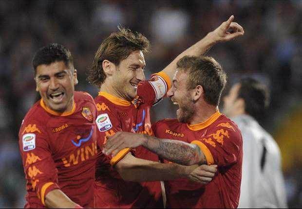 Roma's Francesco Totti thrilled after breaking Roberto Baggio's Serie A goal record
