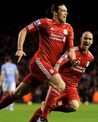 EPL : Andy Carroll - Raul Meireles, Liverpool v Manchester City