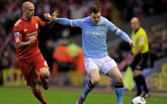 Raul Meireles - Liverpool & Adam Johnson - Manchester City (Getty Images)