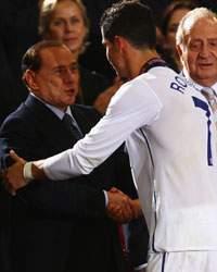 Berlusconi & Cristiano Ronaldo (Getty Images)