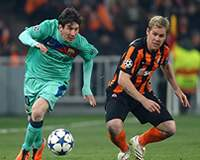 UEFA Champions League: Lionel Messi (FC Barcelona); Tomas Hubschman (Shakhatar)