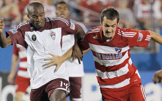 Andrew Jacobson, FC Dallas; Omar Cummings, Colorado Rapids; MLS (Getty)