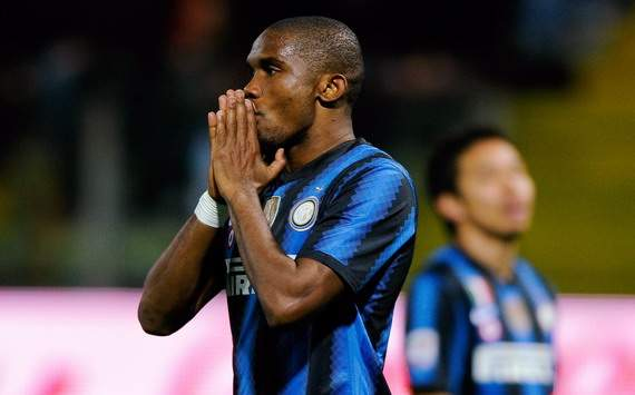 Eto'o out of Inter's Roma date
