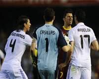 Copa del Rey: David Villa (FB Barcelona), Sergio Ramos, Iker Casillas, Álvaro Arbeloa (Real Madrid)
