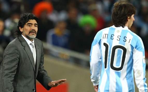 Maradona & Messi - Argentina (Getty Images)