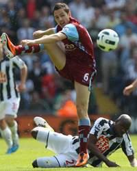 EPL - West Bromwich Albion vs Aston Villa, Stewart Downing and Youssouf Mulumbu
