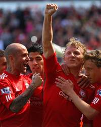 BPL,Liverpool v Newcastle United,Dirk Kuyt