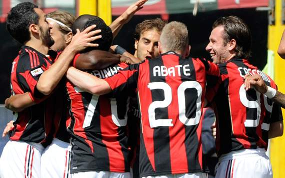 Milan celebrating - Milan-Bologna - Serie A (Getty Images)