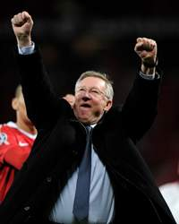 UEFA Champions League Semi  :  Sir Alex Ferguson, Manchester United v Schalke 04