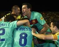 Valdés, Xavi, Bartra, Iniesta, Busquets, Barcelona, Levante