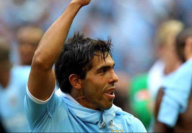 Manchester City's Carlos Tevez on Argentina bench for Albania friendly