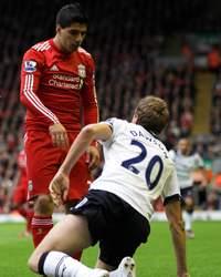 EPL,Michael Dawson, Luis Suarez,Liverpool vs Tottenham Hotspur