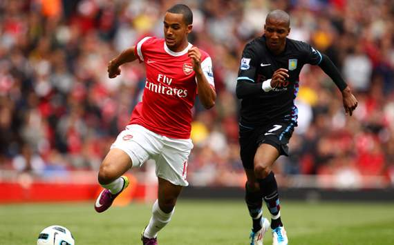 EPL : Theo Walcott; Ashley Young, Arsenal v Aston Villa