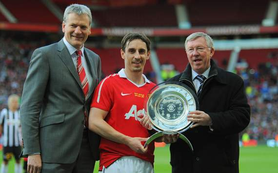 Sir Alex Ferguson 'the greatest manager of all time', declares Gary Neville