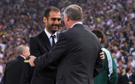 Pep Guardiola & Sir Alex Ferguson