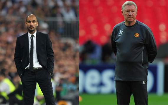 Pep Guardiolathe,Sir Alex Ferguson,Barcelona,Manchester United(Getty Images)