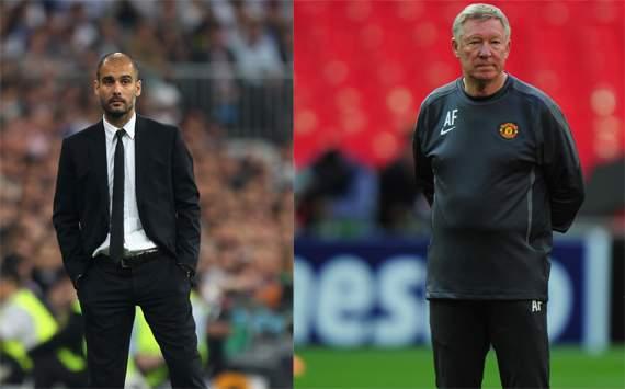 Pep Guardiolathe,Sir Alex Ferguson,Barcelona,Manchester United(Getty Images)