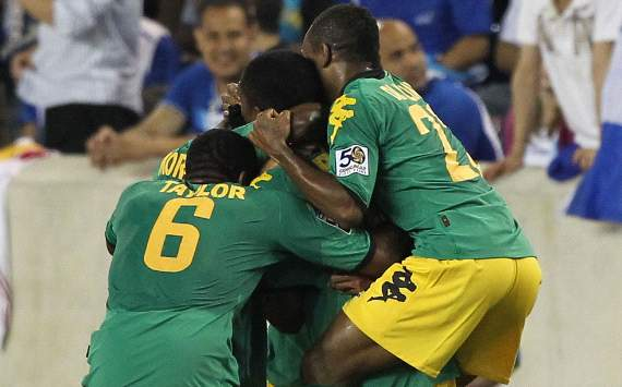Jamaica celebrate, Gold Cup 2011 (Getty)