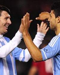 Sergio Agüero y Lionel Messi, Argentina