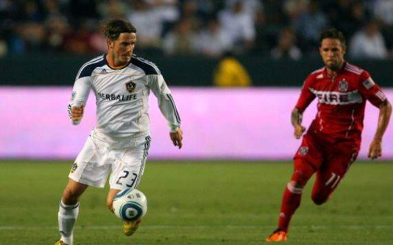 David Beckham; Daniel Paladini; Los Angeles Galaxy - Chicago Fire