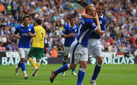 EPL,Ben Watson,Wigan Athletic v Norwich City