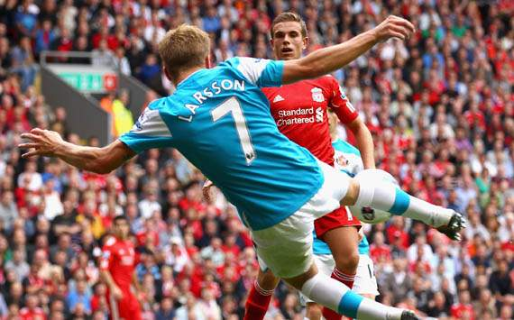 Premier League - Liverpool v Sunderland,Sebastian Larsson 