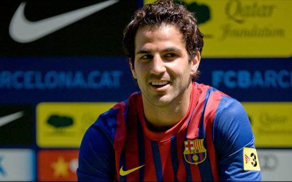 140401hp2 Cesc Fabregas will always be thankful to second father Arsene Wenger after leaving Arsenal for Barcelona