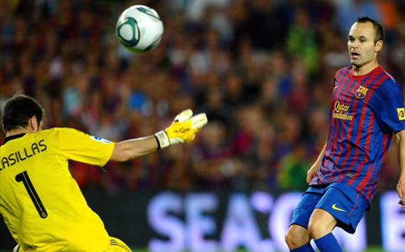 Iniesta - Barcelona Vs Real madrid - Super Cup (Getty)