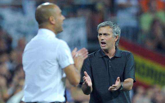 Guardiola - Mourinho,Barcelona Vs  Real madrid (Getty) - Super Cup 2011