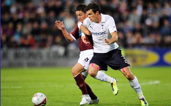 UEFA Europa League Playoff  : Gareth Bale - Ian Black, Heart of Midlothian FC v Tottenham