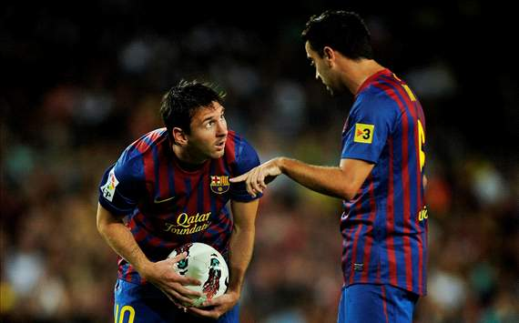 Lionel Messi and Xavi, Barcelona (Getty Images)