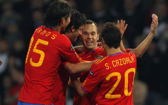 Friendly: Spain celebrates