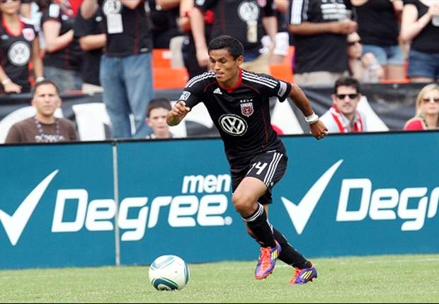 D.C. United's Najar training with Anderlecht
