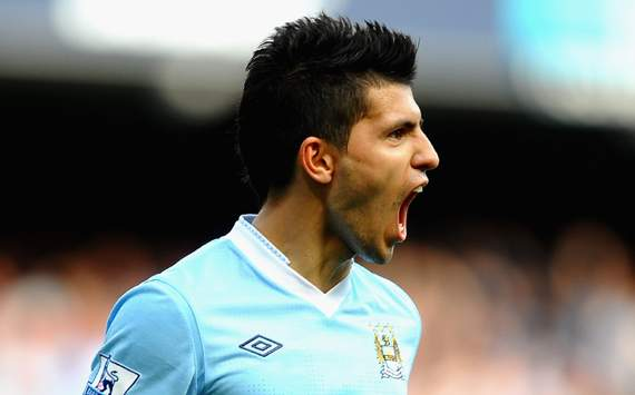 EPL : Sergio Aguero, Manchester City v Wigan Athletic