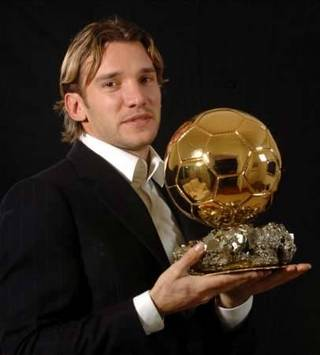 Andrey Shevchenko with Golden Ball