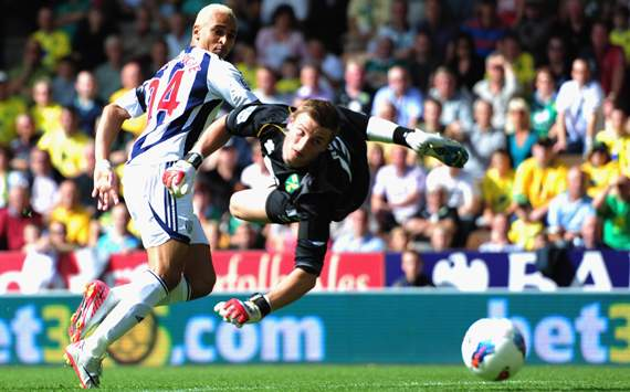 EPL - Norwich City vs West Bromwich Albion, Peter Odemwingie