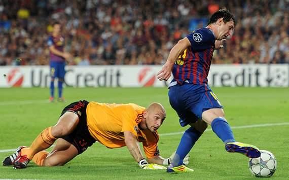 UEFA Champions League: FC Barcelona-AC Milan: Christian Abbiati; Lionel Messi