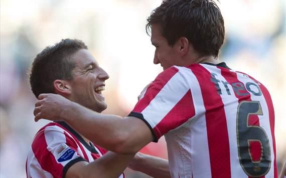 Dries Mertens and Kevin Strootman (PSV)