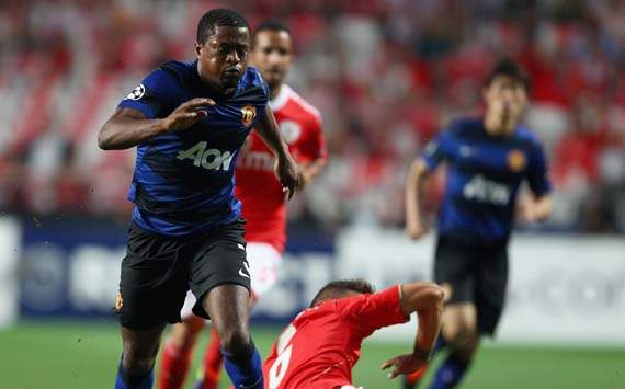 UEFA Champions League - SL Benfica vs Manchester United,Patrice Evra