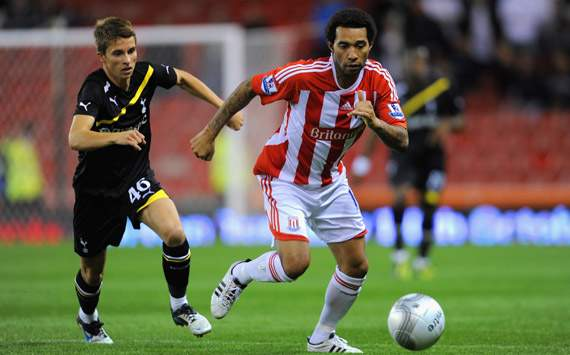 Carling Cup - Stoke City vs Tottenham , Tommy Carroll and Jermaine Pennant