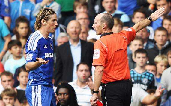 EPL: Fernando Torres - Mike Dean , Chelsea v Swansea City 
