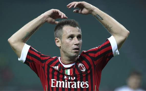 Allegri hopes Cassano repays AC Milan's faith in him