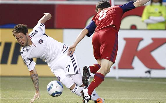 Will Johnson, Real Salt Lake; Daniel Paladini, Chicago Fire; MLS
