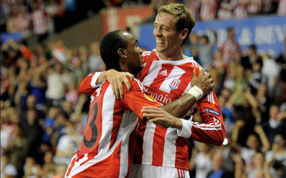 UEFA Europa League - Stoke City FC v Besiktas JK, Peter Crouch and Cameron Jerome