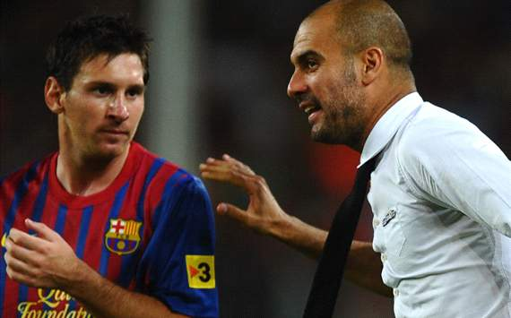 Guardiola and Messi