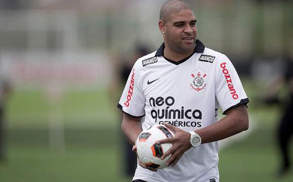 Corinthians pleased with Adriano weight loss but admit he now needs fitness