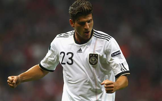 Germany: Mario Gomez celebrates