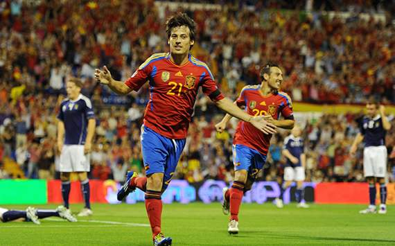 Euro 2012 Qualifiers: Spain-Scotland: David Silva